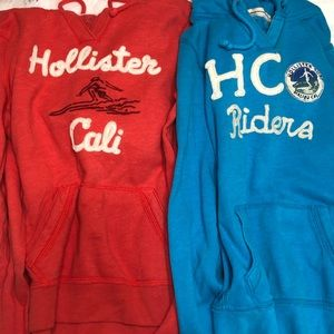 Lot of 2 Hollister hoodies size L